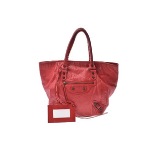 Balenciaga Sunday Leather Bag Red