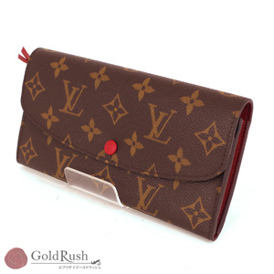 LOUIS VUITTON Louis Vuitton Monogram Line Emily M60136 Long Bi-Fold Wallet Women's Men