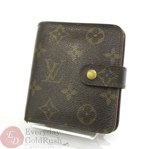 LOUIS VUITTON Louis Vuitton Monogram compact zip M61667 two-fold wallet