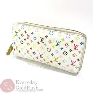 Louis Vuitton LOUIS VUITTON multi-colored zipper wallet Zippy White