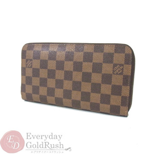 Beautiful goods Louis Vuitton LOUISVUITTON Damier Organizer Round fastener N60003 Purse Men Women