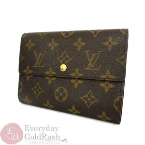 Louis Vuitton LOUIS VUITTON Monogram Tri-Fold Wallet Etuy Papie M61202