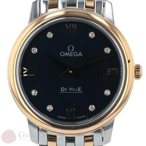 Omega OMEGA De Ville 424.20.27.60.53.001 Diamond 8P YG SS Combi Navy sa mo