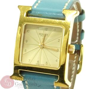 HERMES Hermes H Watch HH 1.201 Blue × Gold Women's Popular