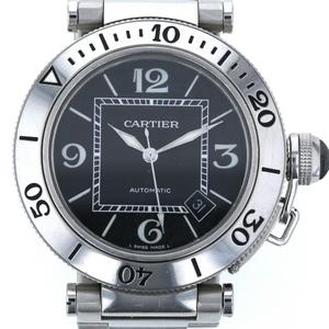 Cartier Pasha Seatimer 2790 Automatic Black Mens Watch mi mo