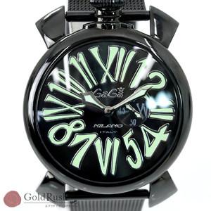 Gaga Milano GAGA MILANO Manure Slim 46 Ref: 5082.2 Quartz Black Dial Two-needle Men's Watch