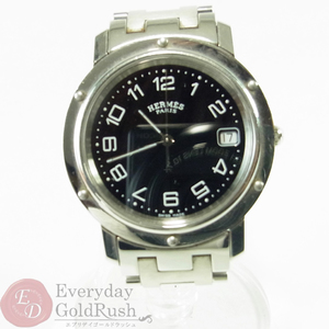HERMES Hermes Clipper Men's CL6.710 Silver × Black Watch Popular