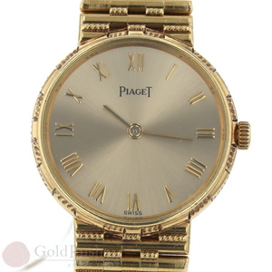 Piaget PIAGET 8058 G2 dancer gold solidity 750 YG Ladies watch 2 pointer Roman quartz sa pa