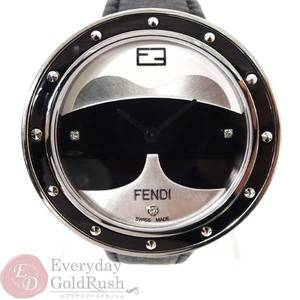 FENDI Fendi My Way Carritt F363021611D1 Quartz SS Leather Belt Ladies Watch kk el
