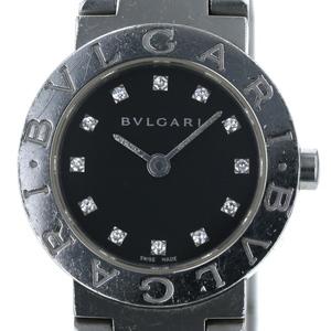 Bulgari BVLGARI BB23S 12P Diamond Quartz Black Ladies watch sa mo