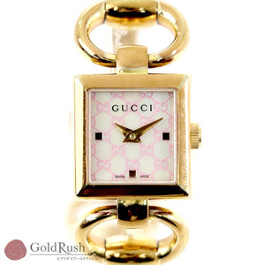 GUCCI Tornavoni Ref. 120 Ladies Watch Gold Shell Dial Quartz