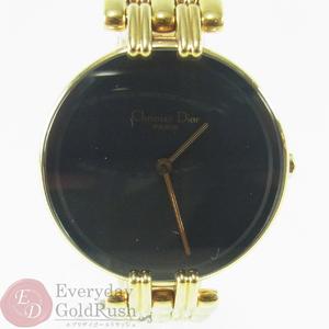 Christian Dior Bagira D46-154-4 Quartz Black x Gold Ladies Watch Popular
