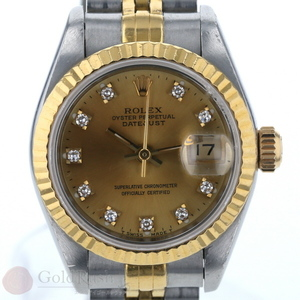Rolex ROLEX Datejust 69173G Number S Ladies Watch YG SS Diamond 10P Automatic Iw mo