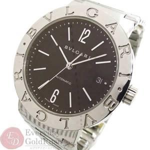 BVLGARI Bulgari BB38 SS Automatic Black Dial Men's Watch kk el