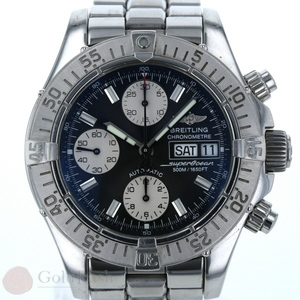 Breitling BREITLING Automatic Men's Watch Super Ocean Chronograph A13340 Navy Dial hon mo