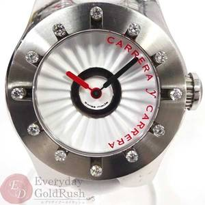 CARRERA Y Carreira Carrera Avalon Mini 12P Bezel SS Quartz Genuine Leather Belt Ladies Watch