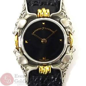 CARRERA Y Carreira Carrera Kavaros 115 Black Dial Leather Belt Quartz Women's Watch