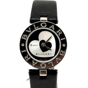 BVGARI Bvlgari Bzero1 Double Heart BZ22S Quartz Black x Silver Ladies Watch