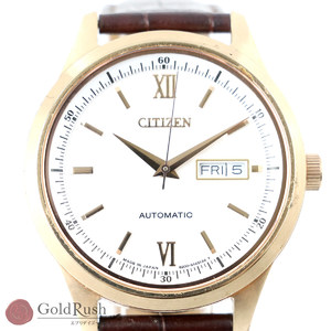 Citizen CITIZEN Mechanical Automatic Winding White Dial Three-needle Men's Watch