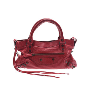 Balenciaga Fast Leather Bag Red