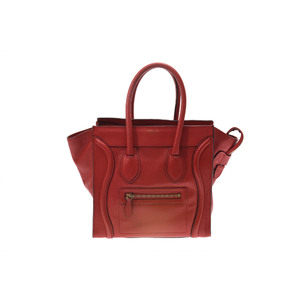 Celine Luggage Leather Bag Red