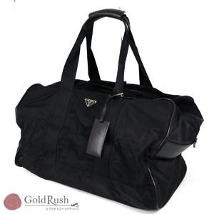 PRADA Nylon × Leather V70S Black Boston Bag Men's Shoulder strap