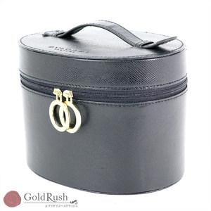 Bulgari BVLGARI Black Leather Vanity Bag Perfume Handbag Ladies