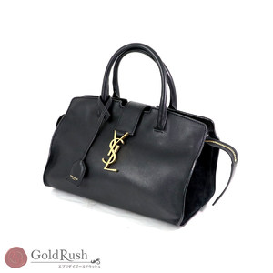 Saint Laurent Saint-Laurent Paris Downtown Baby Kabasu 2Way Shoulder Bag Handbag Black 436834
