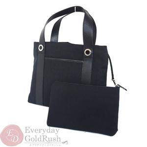 BVLGARI logo mania tote bag handbag black 22278