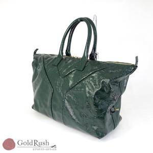 Yves Saint Laurent YVES SAINT LAURENT YSL Enamel Mini Boston Bag Green Green-based 208344 Specials