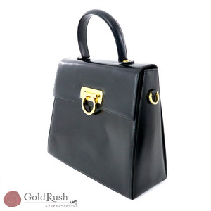 Salvatore Ferragamo FERRAGAMO Gancini handbag 2WAY leather E21 0536