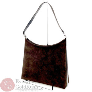 Salvatore Ferragamo FERRAGAMO One shoulder bag suede brown AF-21 9729