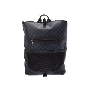 ルイ・ヴィトン (Louis Vuitton) ルイヴィトン ダミエコバルト マッチポイント バックパック 黒/青系 N40009 メンズ 本革 リュック Bランク LOUIS VUITTON 中古 銀蔵