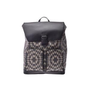 Gucci Backpack Ebony Beige / Black Men's Women's PVC Rucksack A Rank Beauty Product GUCCI Used Ginzo