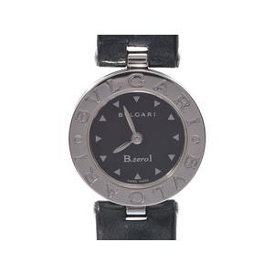 ブルガリ B-ZEROウォッチ BB22S 黒文字盤 レディース SS/革 クオーツ 腕時計 Aランク 美品 BVLGARI 箱 ギャラ 中古 銀蔵