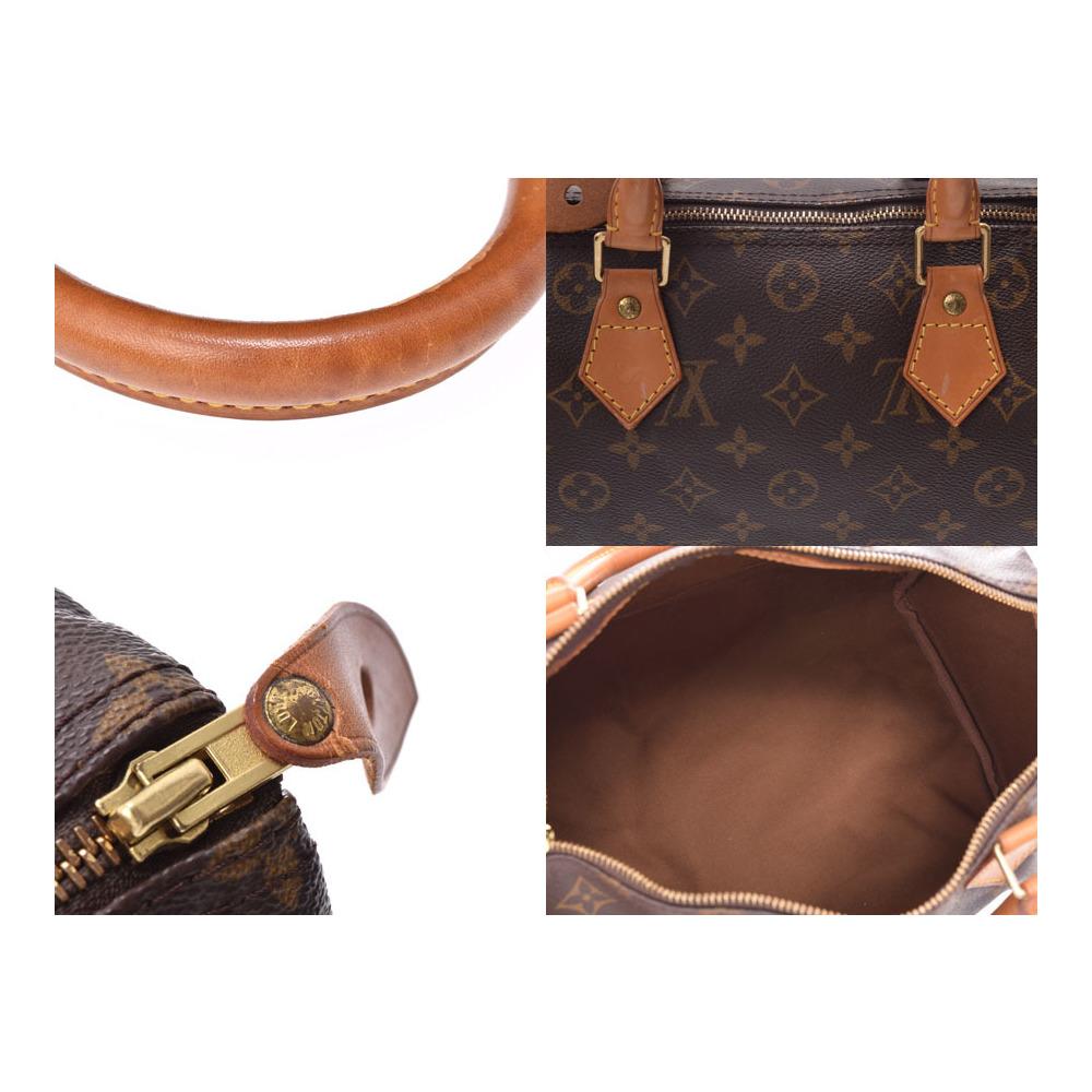 ルイ・ヴィトン (Louis Vuitton) ルイヴィトン モノグラム スピーディ30 ブラウン M41526 レディース 本革 ハンドバッグ Bランク LOUIS VUITTON 中古 銀蔵