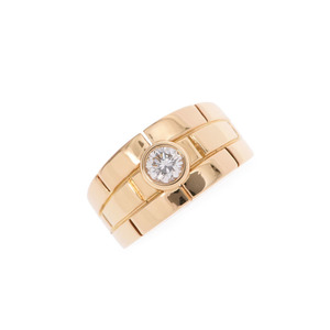 Cartier Dialing # 52 Ladies YG Diamond 9.6g Ring A rank Beauty Product CARTIER used Ginzo