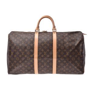 ルイ・ヴィトン (Louis Vuitton) ルイヴィトン モノグラム キーポル55 ブラウン M41424 メンズ レディース 本革 ボストンバッグ Aランク LOUIS VUITTON 中古 銀蔵