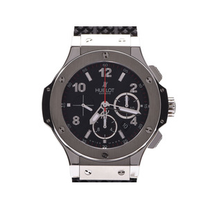 Hublot Big Bang Black Dial 301.SX.130.RX Men's SS / Rubber Automatic Roll Watch A Rank Beauty Product HUBLOT Gallery Used Ginzo