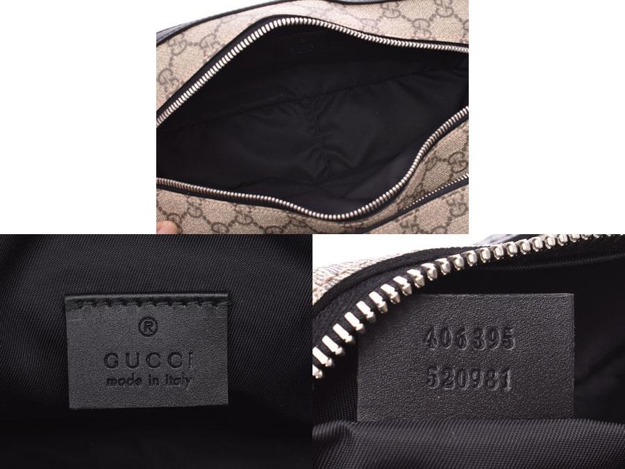 85e0569b3 Gucci Clutch Bag Gray / Black Men's Women's PVC Pouch A rank Bea ...