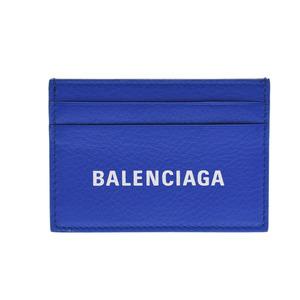 バレンシアガ(Balenciaga) バレンシアガ エブリデイ マルチカードホルダー 青 レディース メンズ レザー カードケース Aランク BALENCIAGA 中古 銀蔵
