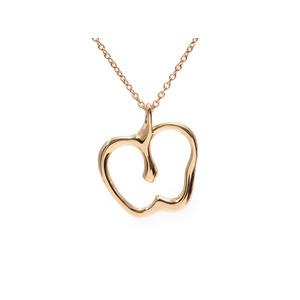 Tiffany Apple Necklace Elsa Peretti Ladies YG 3.5g A Rank Beauty Product TIFFANY & CO Used Ginzo