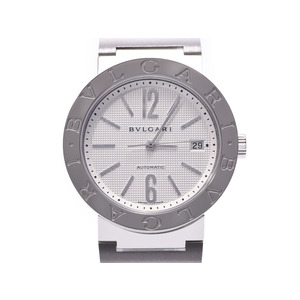BVLGARI 38 White Dial BB38 SS Men's Self-winding Watch A Rank Beauty Product Box Gallery Used Ginzo