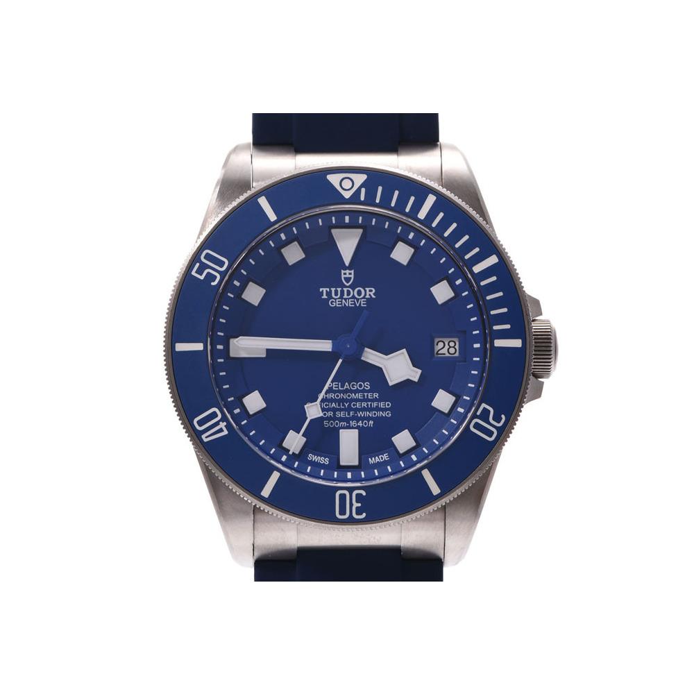 3bda56ad50775 Tudor Pelagos Blue Dial 25600TB Men's Titanium / Rubber Automatic Watch A  Rank TUDOR Box Galla Used Ginzo | eLady.com