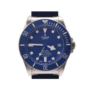 Tudor Pelagos Blue Dial 25600TB Men's Titanium / Rubber Automatic Watch A Rank TUDOR Box Galla Used Ginzo