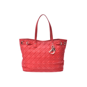 Dior Panarea Red Ladies Coated Leather Tote Bag B Rank CHRISTIAN DIOR Sky Gallery Used Ginzo