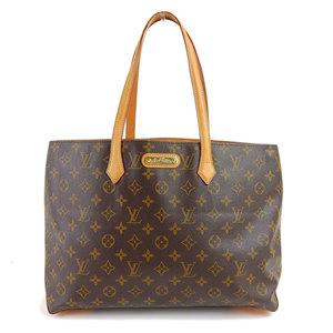 Genuine LOUIS VUITTON Louis Vuitton Monogram Wilshire MM Tote Bag Model: M45644 Leather