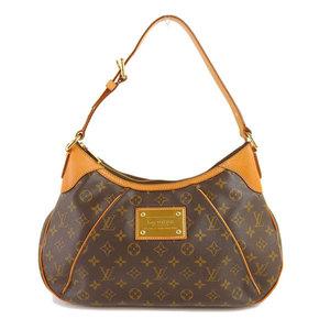 Genuine LOUIS VUITTON Louis Vuitton Monogram Thames MM Shoulder Bag Leather