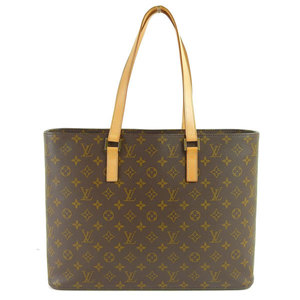 Genuine LOUIS VUITTON Louis Vuitton Monogram Ruco Tote Bag Leather