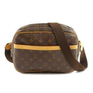 Genuine LOUIS VUITTON Louis Vuitton Monogram Reporter PM Shoulder Bag Leather